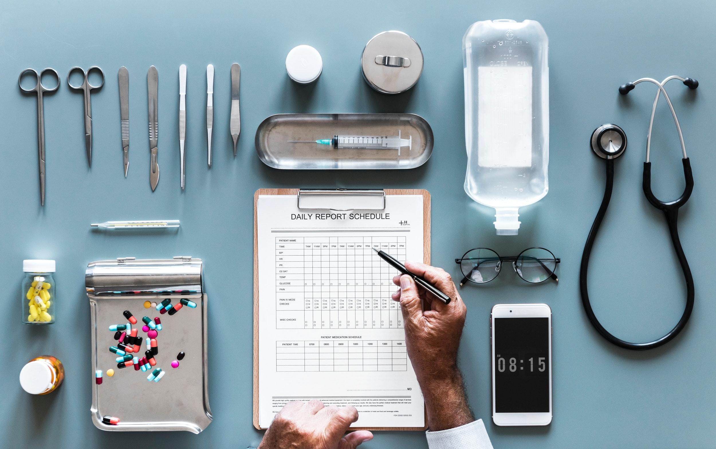 Diverse Mittel zur Behandlung von Krankheiten für Krankenhäuser