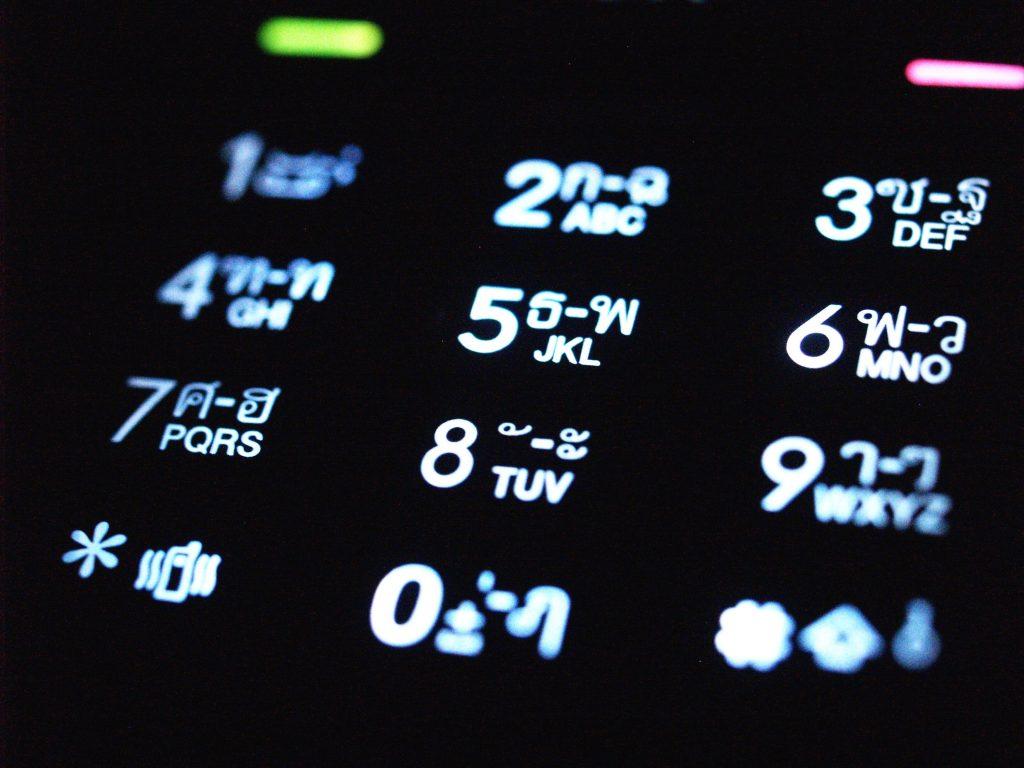 Tasten Smartphone - Telefonkonferenz Smartphone